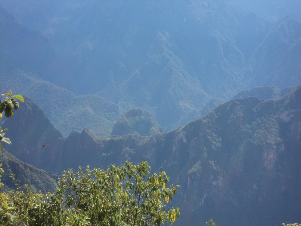 The rarely viewed backside of Machu Picchu