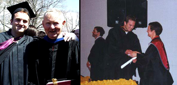 Dad and I at my Mount Allison Convocation 2000